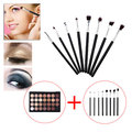 8PCS Make Up Brushes Set + 28 Color Neutral Warm Eyeshadow Palette Eye Shadow Make Up Kit