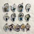 13 pçs/set Anime Yuri!!! no Gelo Victor Nikiforov Katsuki Yuuri Acrílico Keychain Presente Frete Grátis