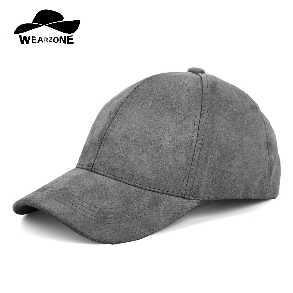 WEARZONE Unisex Soft Suede Baseball Cap Casual Solid Sports Hat Verstelbare Ademende Dad Hats voor Dames Heren