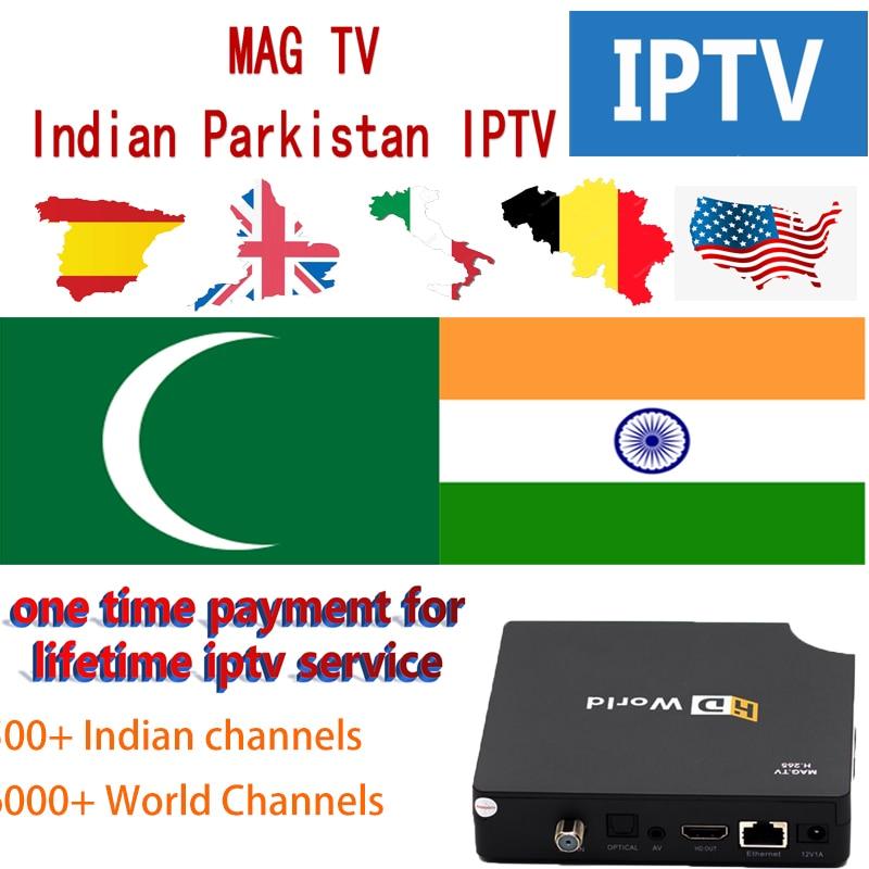 Indien pakistan Bangladesh IPTV abonnement MAG TV Box iptv Hindi Punjabi Kannada Tamli telfairy UK USA italie service permanent