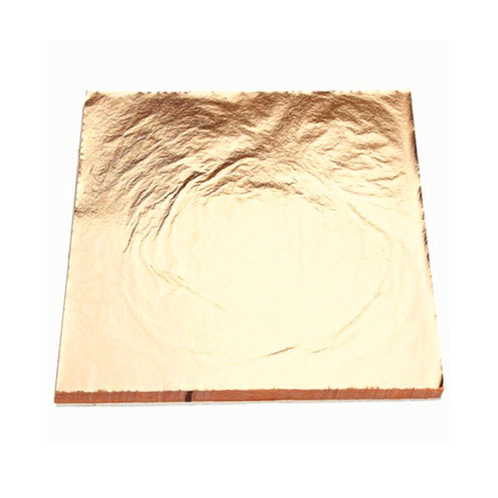 Gold 100 Sheets Wall Decor Gilding Sheets Leaf Foil Paper Gilding Craft Paper Hotels Gold Foil Paper Creative Ceiling