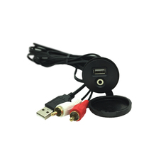 Waterproof USB RCA AUX Extension Cable Boat Car Dash Mount Installation And durable hard plastic and