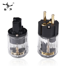 YYAUDIO Hifi мощность Plug Высокое качество Позолоченные одна пара ЕС мощность разъем + IEC разъем