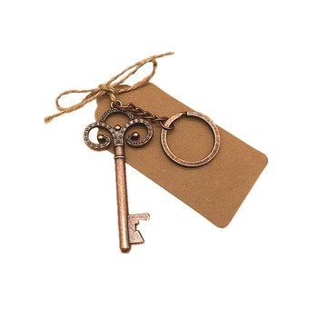 50Pcs Wedding Souvenirs Vintage Skeleton Bottle Opener Tags Party Favors Bottle Openers Keychain Wedding Favors Gifts for Guest 1