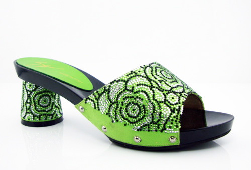 ФОТО Fashionable Design African Party Shoes Beauty African Sexy Pumps Shoes Free Shipping! size 37-43 green  HK1-16