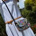 New National saco do mensageiro étnica moda feminina bordado lona pano bordado bolsa de ombro bolsa pequena