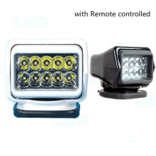 50w LED Search Work Light Remote Control Rotating Magnetic Replace HID 12v 24v 7inch lamp