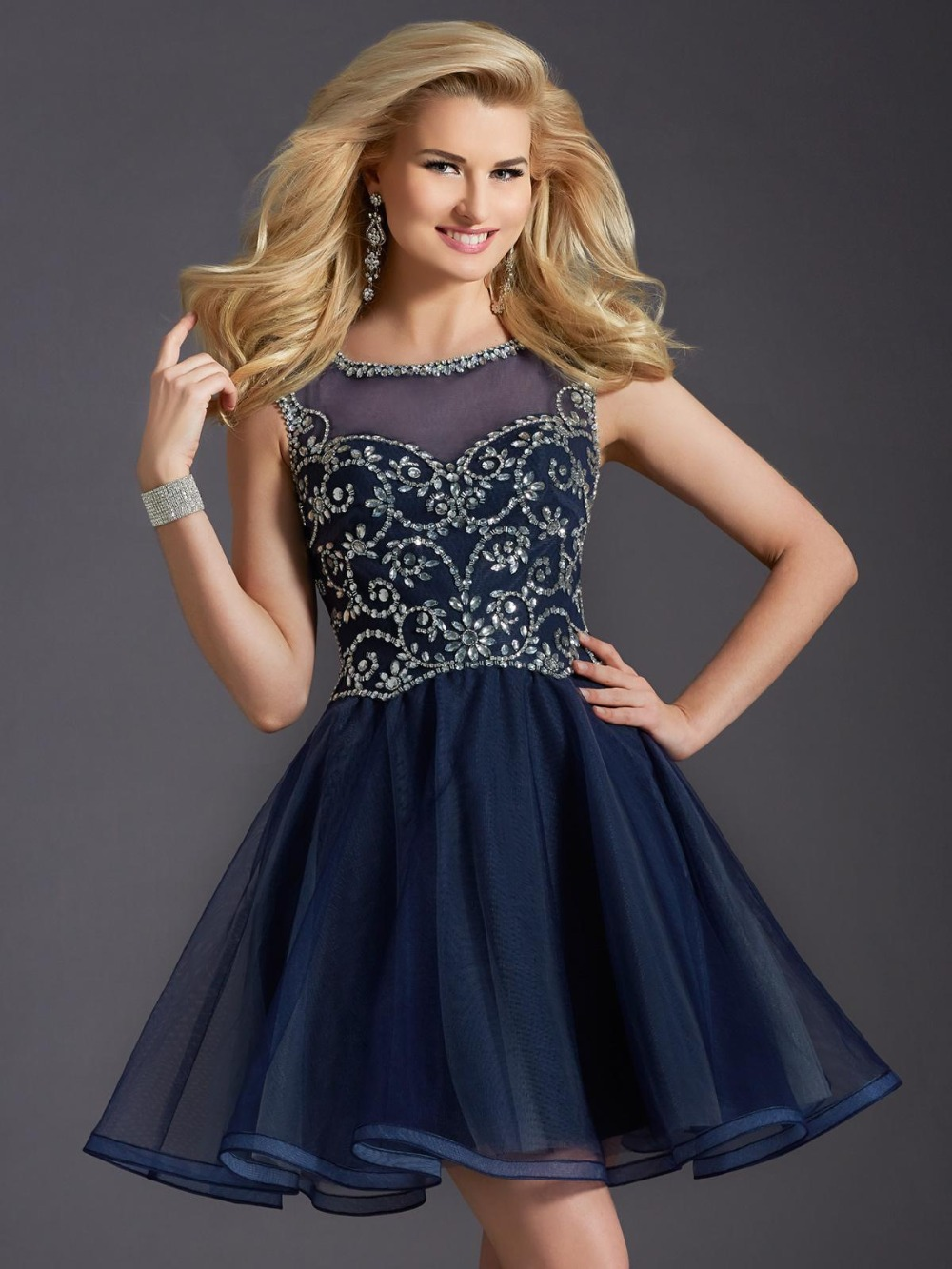 Aliexpress.com : Buy Dark Blue Short Homecoming Dress For Teens ...