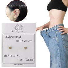 1 Pair Magnetic Slimming Stud Earrings Lose Weight Magnetic Health Jewelry Magnets Earring for Women Jewelry