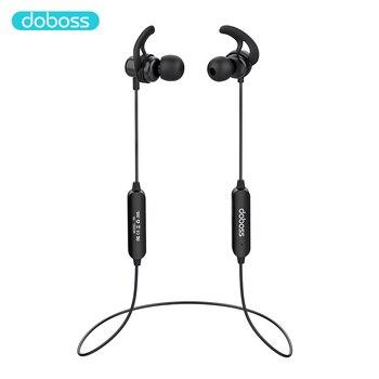 Doboss ST06 deporte auriculares Bluetooth auriculares inalámbricos HD estéreo sonido Cancelación de ruido auriculares de banda magnética para el cuello con micrófono