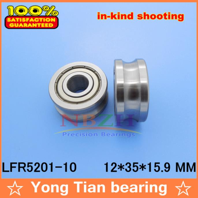 где купить 10 MM track LFR5201 NPP LFR5201 KDD R5201-10 2RS Groove Track Roller Bearings 12*35*15.9 mm (Precision double row balls) ABEC-5 по лучшей цене