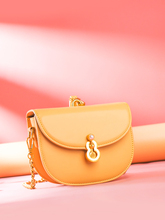 Best selling 2019 Bright color women's fashion casual pearl saddle Messenger bag shoulder bag purse buckle two tone buckle decor saddle bag
