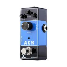 лучшая цена Wood Guitar Effects Mini Pedal Series EX ACH Acoustic Guitar Effects Pedal Preamp Simulator Chorus DC 9V Metal Shell True Bypass