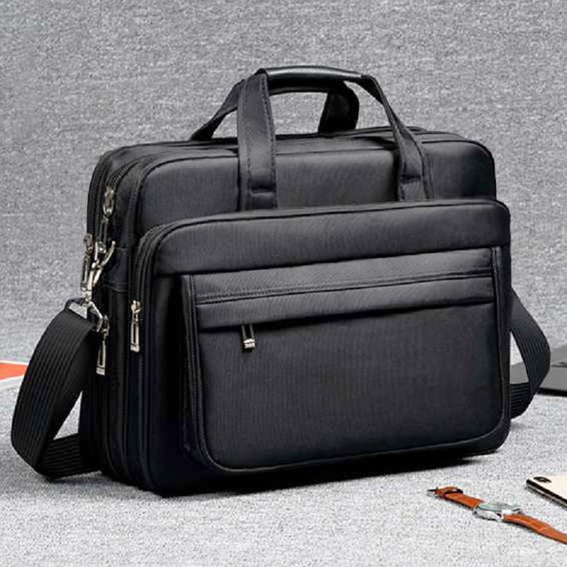 Business men s briefcase high density oxford waterproof 13 17 Inches computer bag men large capacity