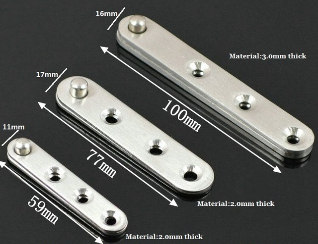 Charming 20Pcs/Lot Premintehdw 100mm Stainless Steel 360 Degree Pivot Hinge Knife  Hinges Inset Patch Fittings