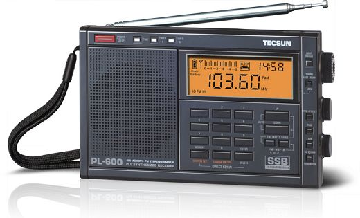TECSUN PL600 Radio FM/LW/MW/SW/SSB PLL Synthesized Receiver degen de1103 radio fm sw mw lw ssb digital radio receiver multiband dsp radio external antenna world band receiver y4162h