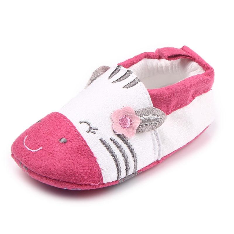 Купить с кэшбэком Baby Crib Shoes for Girls Child Cute Cartoon Animal Loafers Soft Sole Slip-on Newborn Slippers Infant Footwear Toddler Kid Flats