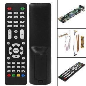 Image 2 - V56 V59 تلفاز LCD لوحة للقيادة DVB T2 7 مفتاح التبديل IR 4 مصباح العاكس LVDS عدة 3663
