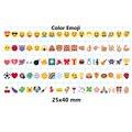 Símbolos y Glifos letras y Números de Tarjeta PARA A5 Tamaño 3 Línea de LED caja de Luz Cinematográfica (Negro y Colorido y Emoji)