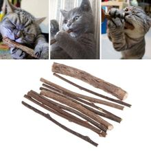 5/10 Pcs Cat Cleaning Teeth Sticks Natural Matatabi Snacks Stick Catnip Pet Molar Toothpaste Rod Kitten Clean Tool