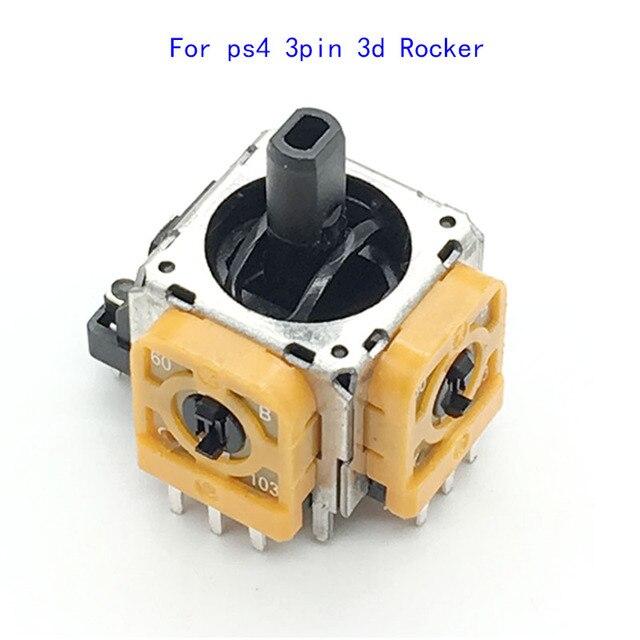 10 pçs/lote Original 3D Rocker Joystick Analógico de Substituição Amarelo para Sony PlayStation 4 PS4 DualShock 4 Controlador Sem Fio Con