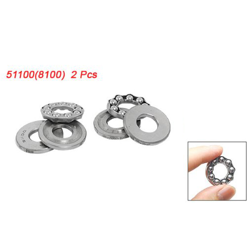KSOL 2 Pcs 10 x 24 x 9mm 51100 Single Direction Thrust Ball Bearings сигнализатор поклевки hoxwell new direction k9 r9 2 1