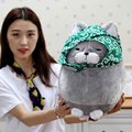 30/40cm Big face cat beard Cloth Doll pussy cat plush toy children Fat cat doll animals birthday gift For Children