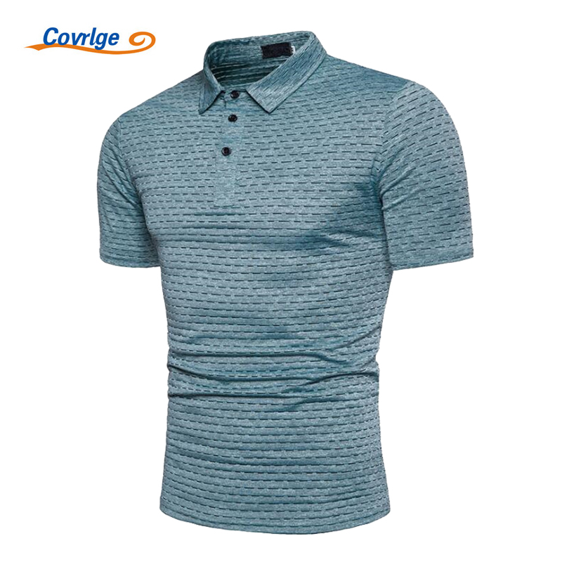 Covrlge Male   Polo   Shirt 2018 Summer New Men's Short Sleeve   Polos   Fashion Ionic Jacquard Tee Shirts Africa Style Man Tops MTP047