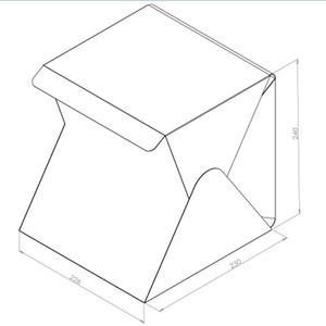 Image 5 - Mini Tragbare Falten leuchtkasten Fotografie Foto Studio Softbox Beleuchtung Kit Licht box für iPhone Samsang Digitale DSLR Kamera