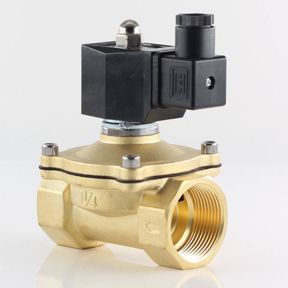 "Normally closed solenoid valve water valve, IP65 fully enclosed coil, AC220V DC12V DC24V, G3/8"" G1/2"" G3/4"" G1"" G1-1/4"" G1-1/2"" 2"