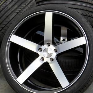 Image 4 - Silver Vossen 56mm 60mm Curved Wheel Center Cap Decal Badge Car Sticker for VOSSEN Rims Wholesale Hubcap Sticker