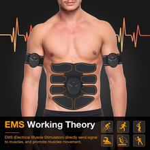 EMS Wireless Muscle Stimulator Smart Gifts Bring Ahealthy Body Electric Weight Loss Stickers Body Slimming Belt Dropshipping