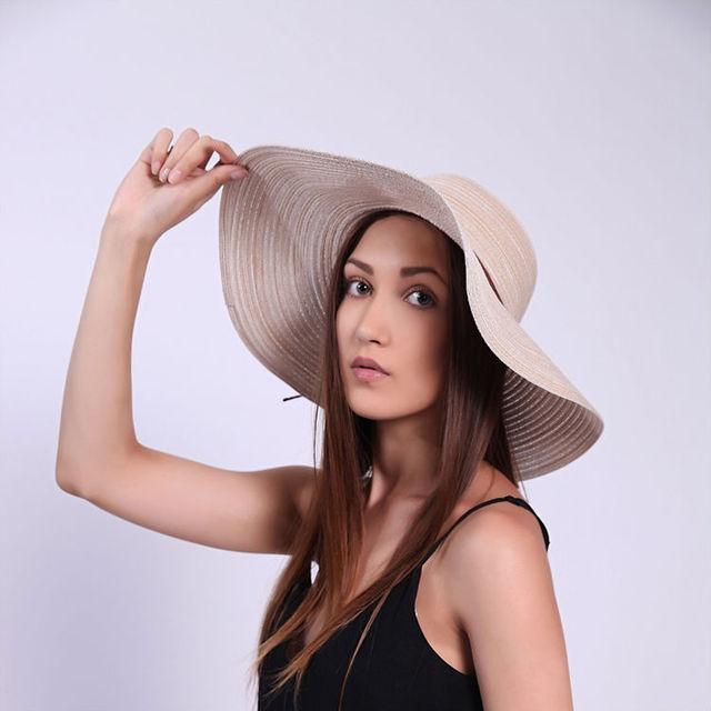 2016 Verano Nuevas Señoras de Las Mujeres Playa del sombrero del Sol Sombrero Grande Ancho Brim Floppy Cap Bowknot Cap