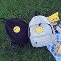 Emoji Backpack Pretty Style Women Canvas Backpacks Emoji Face Printing School Bag For Teenagers Girls sac a dos Mochila Feminina