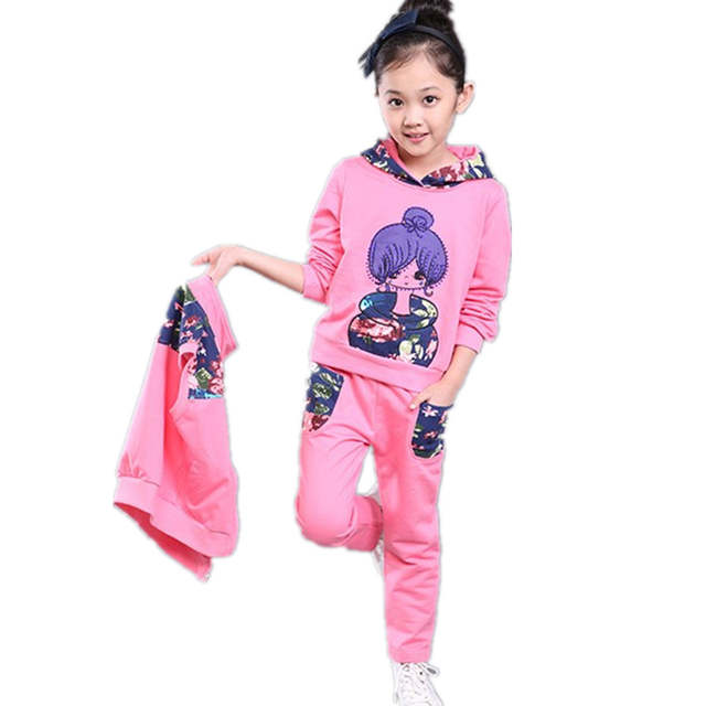 1a1a132e4 Online Shop Autumn Girl Vest Hoodies Pants Sets Ropa Kids Clothes ...
