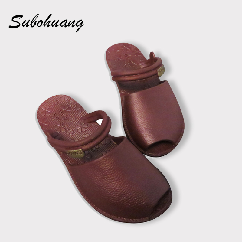 Brand Quality Beach Slippers Women Summer Non-slip Soft PU Leather Open-toed Fashion Slippers Outside 2017 Hot Sale Slides Shoes 2016 spring cute cat lovers slippers fish head back open toed slip room flat slippers women slippers free shipping