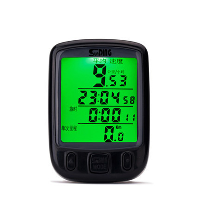 New Cycling Waterproof Large-screen Mountain Bike Bicycle Computer Speedometer Odometer Backlight Stopwatch Bicycle Accessories
