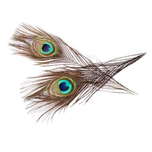 Boutique 30 Pieces Of Peacock Feather Natural 25-30CM Wedding Dress DIY Jewelry Fluffy Popular Decorative Crafts