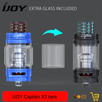 Original IJOY Captain X3 Subohm Tank 6ml 8ml Atomizer With X3 C3 Coil Matches E Cigarette