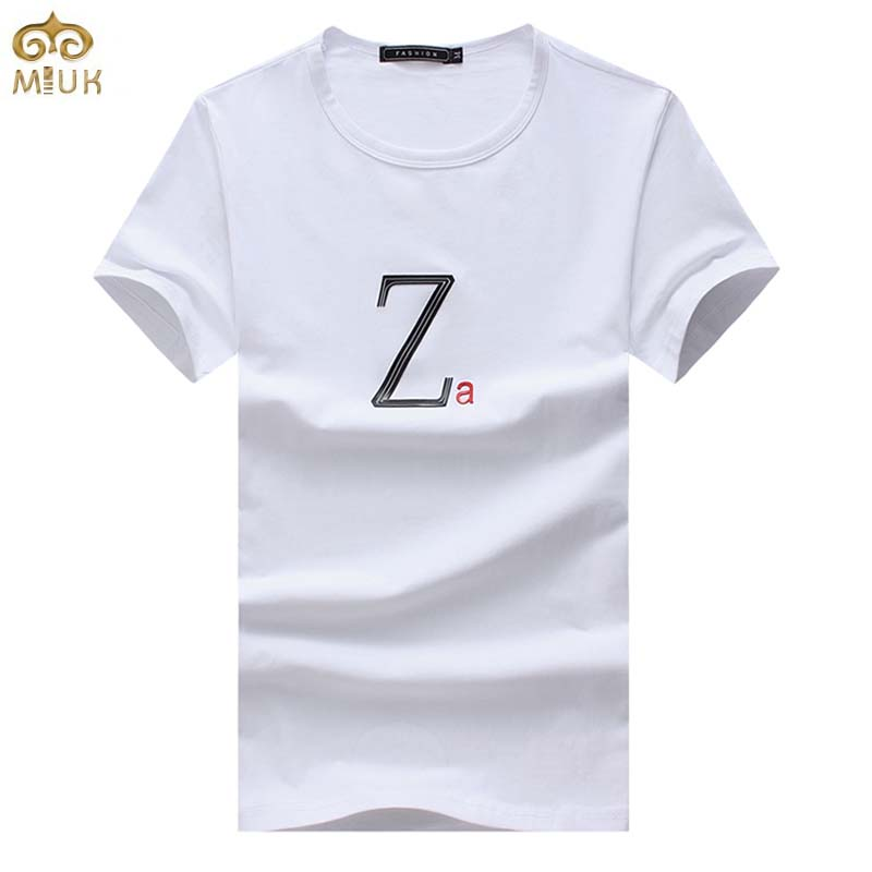 miuk large size brand clothing letter t shirt men 5xl 4xl With big letter t shirts