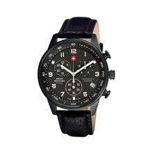 Наручные часы Swiss Military SM34012.08 мужские с кварцевым хронографом на кожаном ремешке