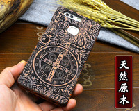 High Quality 100 Natural Bamboo Wood Case Cover For Huawei P9 Wooden Carving Hard Back Case