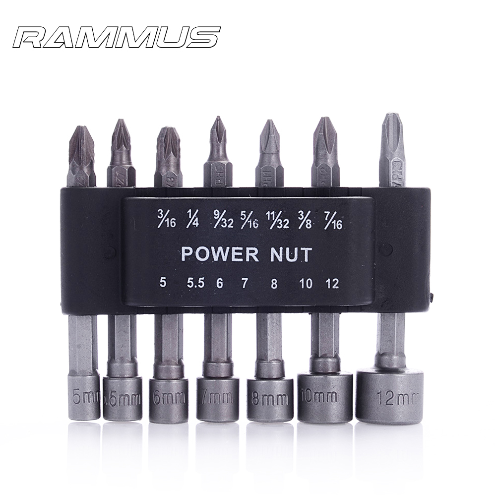"14pcs Tool Parts 4/"" Hex Shank Screwdriver Bit Socket Wrench Power Nut"