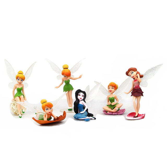 6 Pcslot the Flower Angel Pvc Action Figures Pretty Girl With