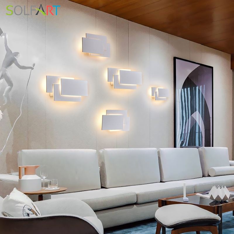 LED Wall Lamps Mounted Sconces Modern Sconce Lustre Aluminum Painted White Black Light In From Lights Lighting On Aliexpress