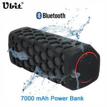 Ubit 10 W Deportes Al Aire Libre A Prueba de agua Caja de Sonido Portátil de Altavoces Inalámbricos Bluetooth Moto Con 7000mA Banco de Potencia Altavoces