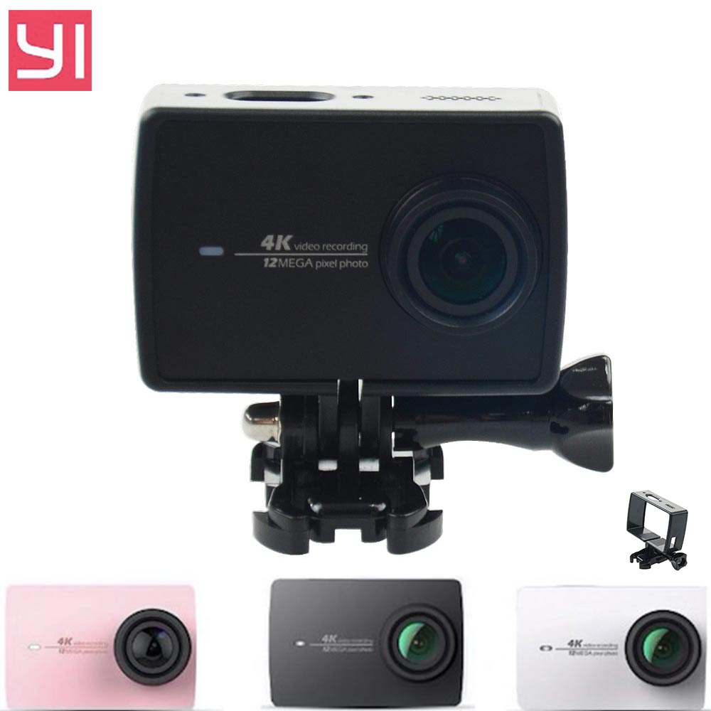 2016 NEW Xiaomi yi 4K Case Accessories Plastic Protective Frame Case for Yi Xiaomi Second 4K Action Camera