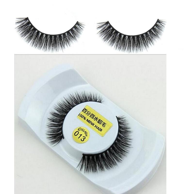 be29839dbca 1 Pair 100% Real Mink Natural Thick False Fake Eyelashes Eye Lashes Makeup  Extension Beauty Tools 013