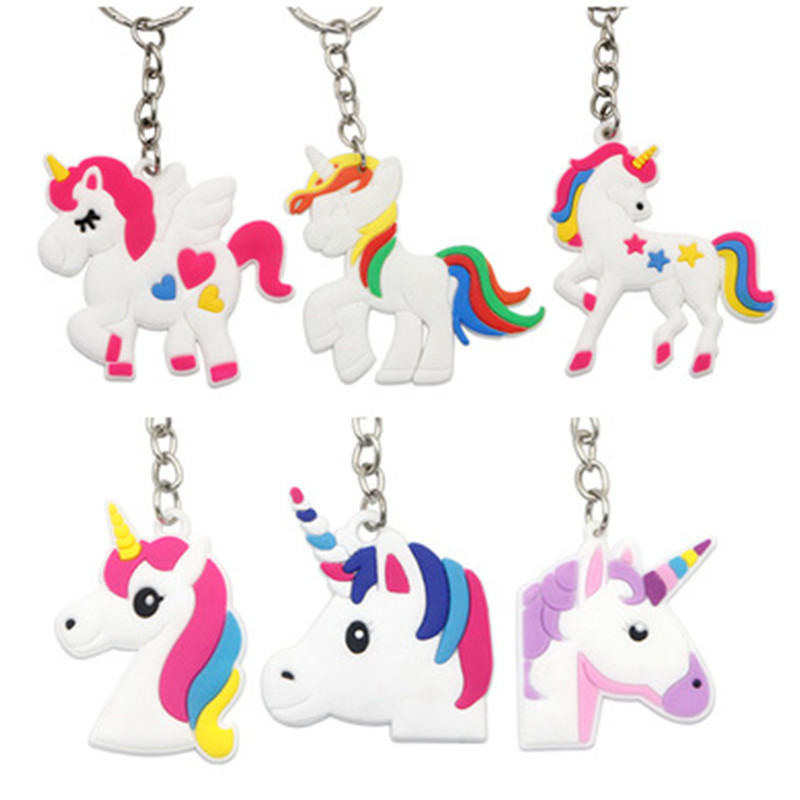 Cute-Fairytale-PVC-Unicorn-Keychain-Party-Favors-Multi-style-Horse-Key-Holder-for-Girls-Christmas-Gift (4)