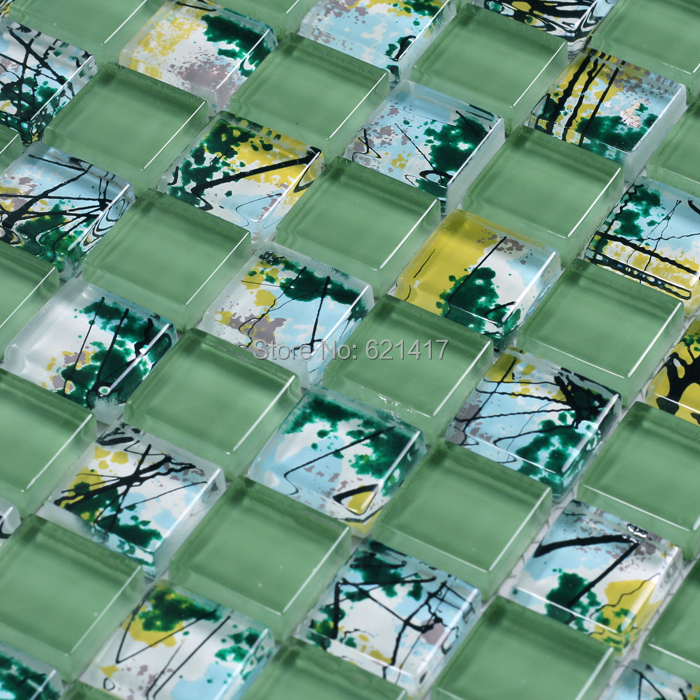 Online kaufen großhandel grün küche backsplash aus china ...